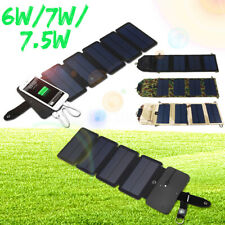 6/7/7.5W Faltbar Outdoor Solarmodule Sonnenenergie USB Solar Ladegerät Powerbank