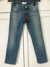 VERSACE Young Blue Studded Jeans Size 6 years 100% genuine