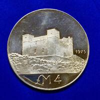 1975 Malta 4 Silver Liri St. Agatha's Tower - The Red Tower KM 33