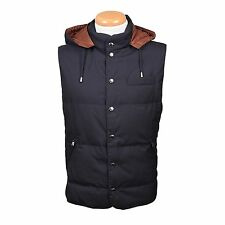 Brunello Cucinelli 100% Wool - Goose down Puffer Vest Coat Size M NEW