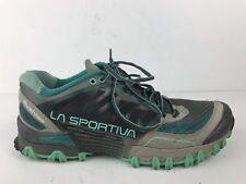 Women's La Sportiva Bushido Trail Running Hiking Shoes Size US 9.5 Grey Mint