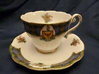 VINTAGE ROYAL STANDARD BONNIE SCOTLAND CLAN MACDONALD TEA CUP & SAUCER SET