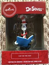 2020 Hallmark Red Box Christmas Tree Ornament Dr. Seuss Cat In The Hat - New