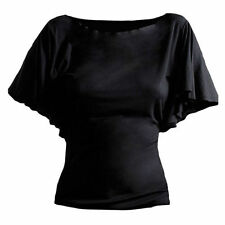 Women's Batwing, Dolman Sleeve Casual Solid Regular Tops & Blouses