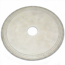 "6"" Lapidary Diamond Saw Blade Notched Rim Arbor 3/4"" Rock Slab With bushing 1/2"""