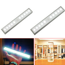 10-LED PIR Motion Sensor Under Cabinet Light Bar Closet Kitchen Counter Lamp Kit