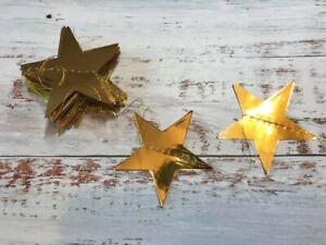 Gold Star Bunting Garland Mirror Shiny Ramadan Wedding Party Decor Prop 4m