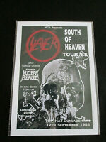 SLAYER  : SOUTH OF HEAVEN TOUR 88 : A4 GLOSSY REPO POSTER