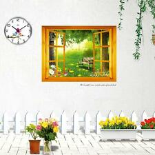 New Home Decoration Art Vinyl Mural Wall Sticker Window Forest View Decal Paper