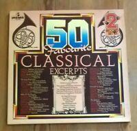 Various – 50 Favourite Classical Excerpts 2× Vinyl LP Comp 33rpm 1977 50 DA 314