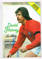PROOF DAVID HARVEY SIGNED TESTIMONIAL PROGRAMME LEEDS UNITED COA AUTOGRAPH UTD 9
