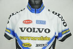Cannondale Volvo Cycling Jersey Mens Made in Usa size L