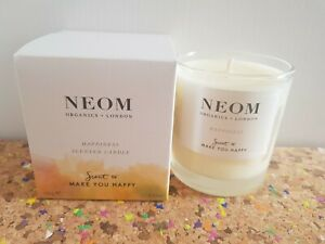Neom Organics Happiness Scent To Make you Happy 1 wick candle new 185g