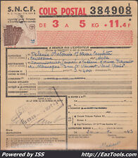 FRANCE COLIS POSTAUX N°208 SUR BULLETIN D'EXPEDITION DU 20/09/1943