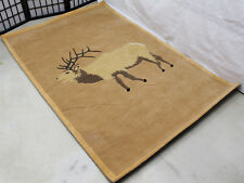 R4027 Mountain Special Elk Hand Crafted Woolen Tibetan Rug 4' X 6' Made In Nepal