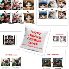 """Personalised Cushion Cover Pillow Case Printed Photo Custom Print Cover 18x18"""""""