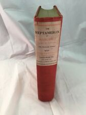 1902 The Heptameron Tales of Margaret Queen of Navarre Hardcover Illustrate Book