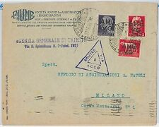 53304 - VENEZIA GIULIA AMG VG -  BUSTA a Milano -  Routed via ACCO 1945