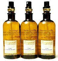 3 Bath Body Works Aromatherapy BERGAMOT 5-in-1 Essential Oils Mist 5.3 oz