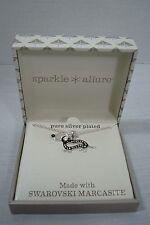 Dachshund Swarovski Marcasite Necklace Silver Plated Sparkle Allure Weiner Dog