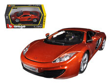 1/24 Bburago Mclaren MP4-12C Metallic Orange Diecast Model Car Orange 18-21074