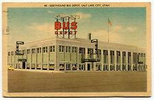 """1953 Postcard - """"GREYHOUND BUS DEPOT"""" [SLC, Utah]"""