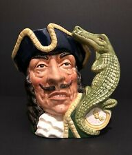 Royal Doulton 'Captain Hook' D6597 1964 Large Toby Character Jug Crocodile/Clock