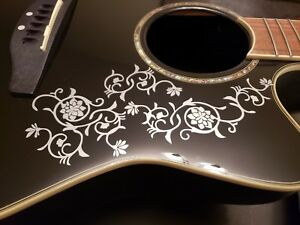 Guitar Body Design #5 Vinyl Decals Inlays for Any Guitar 30 Colors!!