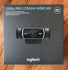 Logitech 1080p Pro Stream Webcam Web Cam - New - Ready To Ship