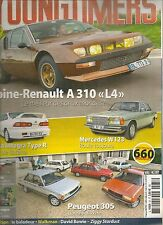 YOUNGTIMERS 37 ALPINE A310 1600 PEUGEOT 305 MERCEDES W123 HONDA INTEGRA TYPE R
