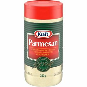 3PACK Kraft 100% Grated Parmesan Cheese 250g- From Canada -FRESH & DELICIOUS!