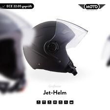 JET-HELMET MOTORCYCLE-HELMET VESPA SCOOTER MOTO HELMETS U52 M. Black XS S M L XL