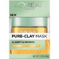 L'oreal Paris Pure Clay Mask Clarify & Smooth ( 3 pure clay + YUZU Lemon ) 1.7oz