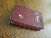Gideons 1967 Edition Pocket Bible New Testament w Psalms Proverbs Red
