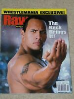 WWE MAGAZINE RAW NOVEMBER 2001 WRESTLING THE ROCK COVER & POSTER WWF