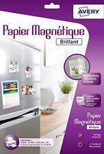Avery 3 feuilles de Papier Magnétique - A4 impression Jet D'encre Brillant...