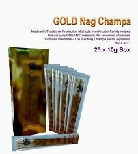 INC003 Happy Hari Incense Organic Halmaddi Nag Champa Gold BOX OF 25 PACKS!