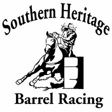 Barrel Racing Decal Southern Heritage Vinyl Rodeo Window Sticker