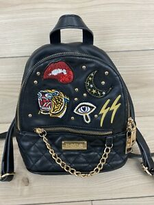 BEAUTIFUL! BEBE Backpack black with patches
