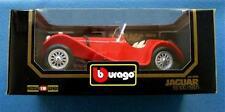 RED JAGUAR SS 100 1937 1:18 DIE CAST CAR BbURAGO