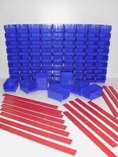80 Stapelboxen Gr. 2 Stapelkästen Lagerboxen 76x103x175mm + 16 Wandschienen Neu