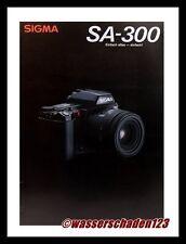 SIGMA Kamera PROSPEKT Sigma SA-300 & OBJEKTIVE Broschüre (X1059