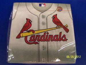 St Louis Cardinals MLB Major League Baseball Sports Party Paper Luncheon Napkins
