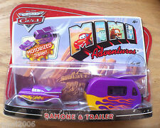 Disney PIXAR World of Cars MINI ADVENTURES Ramone with MOTORIZED TRAILER