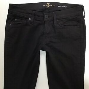 Ladies Seven 7 for All Mankind BOOTCUT Black Jeans W27 L28  Size 8 (805F)