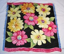 Talbots Very Elegant Tropic Floral Design 100% Luxurious Silk Scarf New with Tag