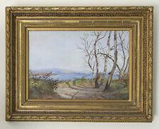 BRUNEL Jean-Baptiste (1844-1919) Ramasseuse de bois sur l'île de la Barthelasse
