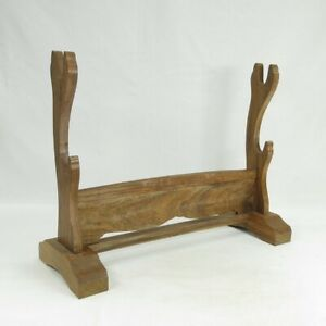 A818: Japanese wooden rack for Japanese sword of mulberry wood