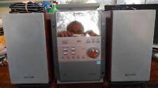 Panasonic Mini Bookshelf Stereo System SA-PM19 CD Cassette MP3 AM FM Excellent!