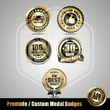 Premade Medal badges, Premade design, NOT custom Logo Design